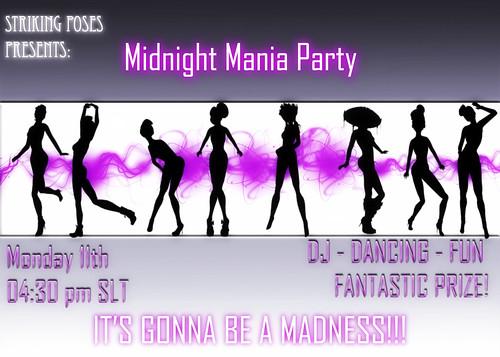 Midnight Mania Party Ad