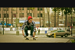and coast. (quachified) Tags: street urban slr sports canon lens jump freestyle skateboarding action extreme 85mm ollie flip skate 5d skater trick f18 dslr ef shortboard kickflip