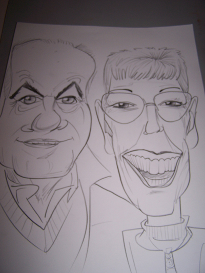 live caricatures Christmas Party