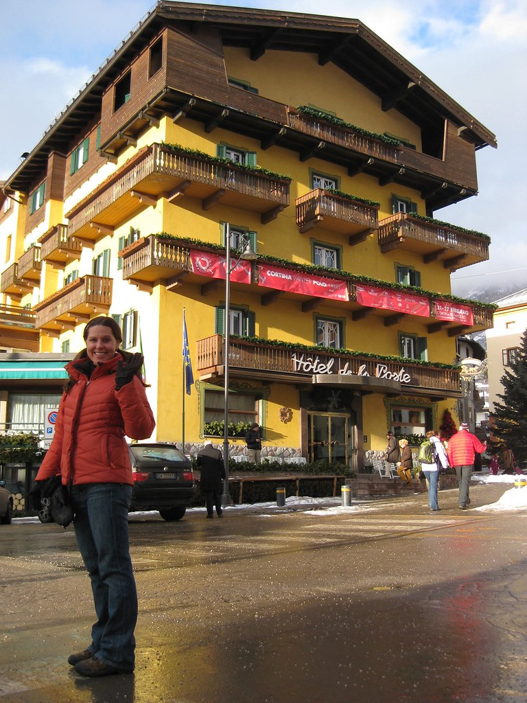 Corrie in downtown Cortina