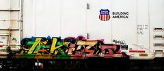 Jekls nct (mightyquinninwky) Tags: up logo geotagged graffiti sticker streak tag graf tags tagged railcar rails unionpacific shield graff graphiti reefer nct booker bookman trainart rollingstock paintedtrain armn railart readmorebooks moniker reflectivetape movingart taggedtrain evansvilleindiana jekls rollingart thiscarexcessheight movingfreight paintedreefer taggedreefer geo:lat=37956418 geo:lon=87613698