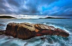 Movement of Rock (RDpicsandvideo.com) Tags: ocean sea seascape storm color water rock clouds fingalbay superaplus aplusphoto