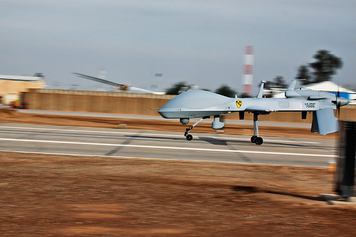 MQ-1C Sky Warrior aircraft landing