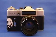zenit-e with lenin skin ( picturemaker ) Tags: camera old lenin vintage skin zenit kamera russland uddsr
