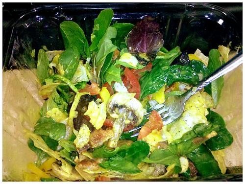Salad w bacon bits, or bacon w salad bits?