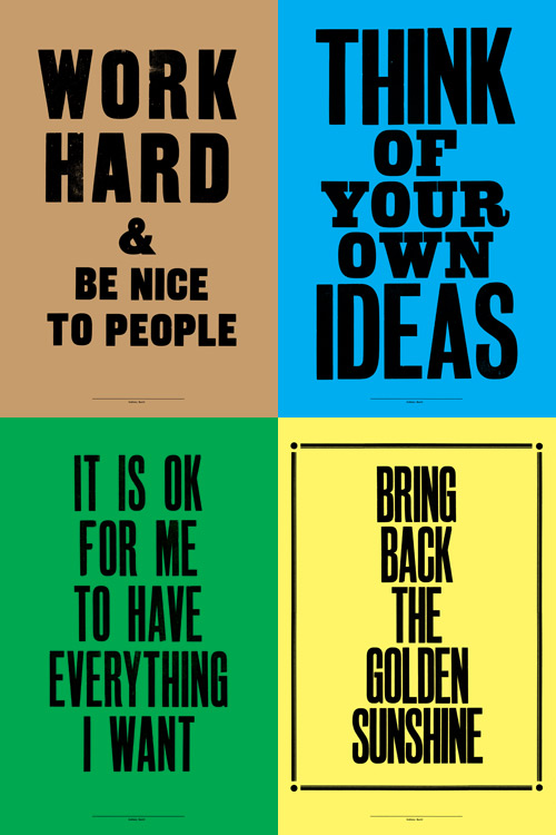 Anthony Burrill Letterpress Posters