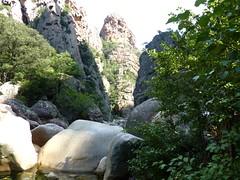 Le départ du canyon de la Vacca et le Castelluciu d'Urnucciu