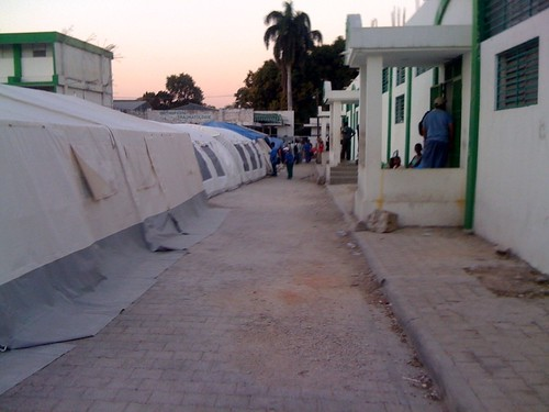 Our ER on the left and OR on the right #HaitiDrDispatch