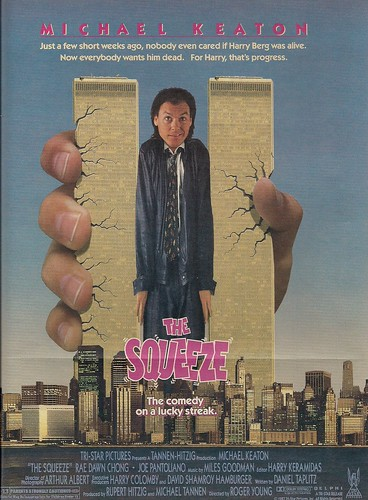 1987 The Squeeze Movie Ad (WTC Views)