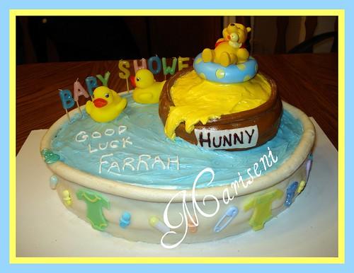 Winnie the Pooh Bathtub Baby Shower Cake