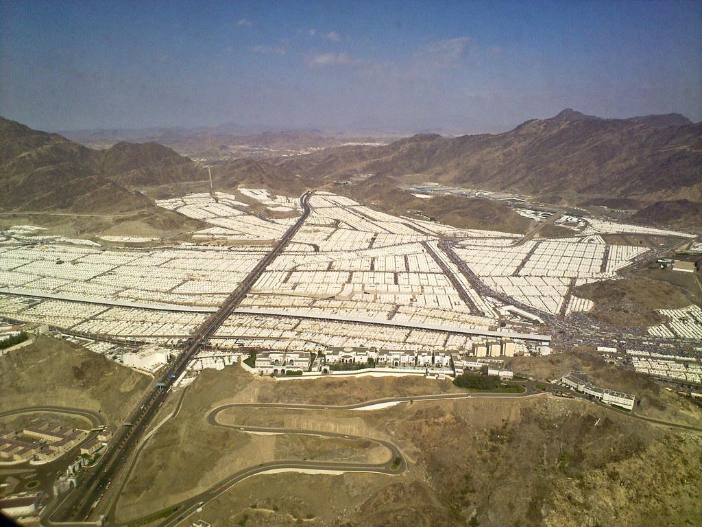 Hajj, Pilgrims, Mecca, Sprawling tent city of Mina
