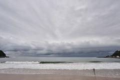 Playa casi desierta (TerePedro) Tags: espaa cloud storm water spain agua day asturias playa arena nube ribadesella cantabrico santamarina baista flickraward