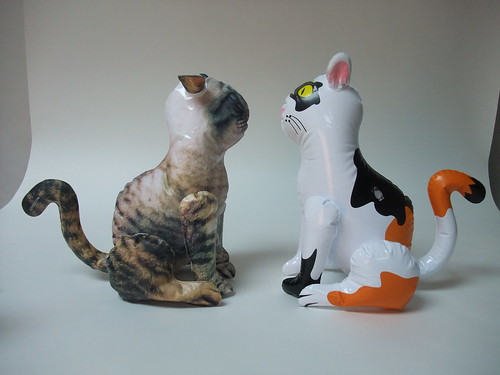 Inflatable Cats from the Side