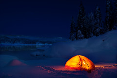 tent3 (rvallentyne) Tags: ca camping light orange lake snow cold west ice nature beautiful night rural forest dark painting landscape frozen long with outdoor background flash country scenic bum tent flashlight wilderness lovely capture exsposure shaver vallentyne ouside backpaking freexing vallentynephotography photosbyvallentyne