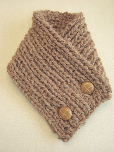Rust Alpaca neck warmer