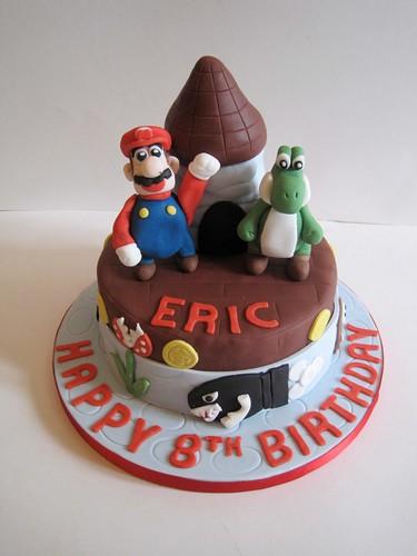 Mario and Yoshi Cake