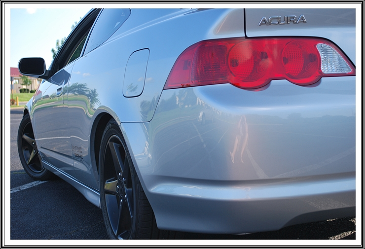 Acura RSX after 60 minute wash and wax by DJ Mayo