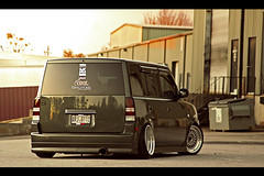 the Rearview (nickricophoto) Tags: ride air low stretch toyota bb scion rs bbs xb stance bbsquad