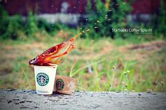 Starbucks Coffee Splash! (angml) Tags: coffee outdoor starbucks splash 50mmf18 canon500d canoneos500d