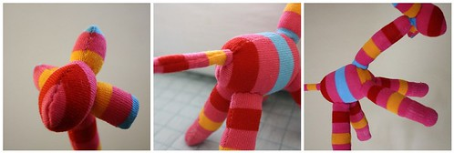 """Rambo"" Giraffe Sock Softie"