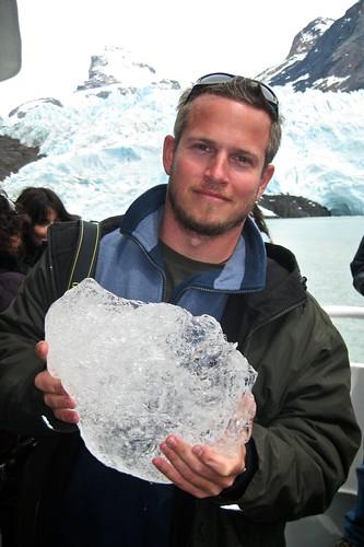 Jeff Holding Glacier Ice