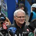 Premier Gordon Campbell Tries the Zipline