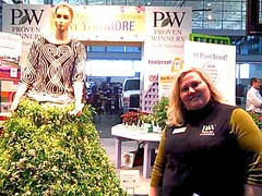 Hillary Poire and the new Snow Princess Flower (jenniferalison) Tags: snowprincess bostonconventionexhibitioncenter newenglandgrows provenwinnerspleasantviewgarden