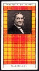 Cigarette Card - Clan MacMillan