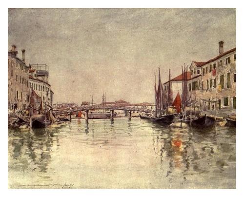 017- Canal en la isla Giudecca-Venice – 1904-Dorothy Menpes