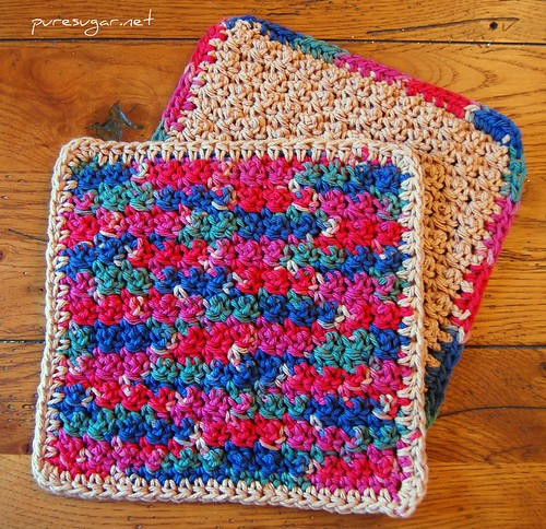 tiny baubles dishcloth