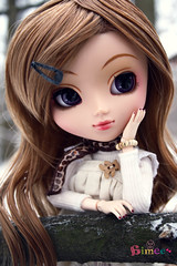 Aimee - Pullip Papin ( J a c k y) Tags: bear winter brown white cold tree cute scarf germany hair outside outdoors wooden doll dolls branch dress teddy sweet outdoor tights aimee wig bracelet pullip bracelets now limb pantyhose pullips hairclip obitsu papin