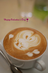 Happy Valentine's Day  (kaycatt*) Tags: cafe cappuccino 50mmf14 happyvalentinesday d80