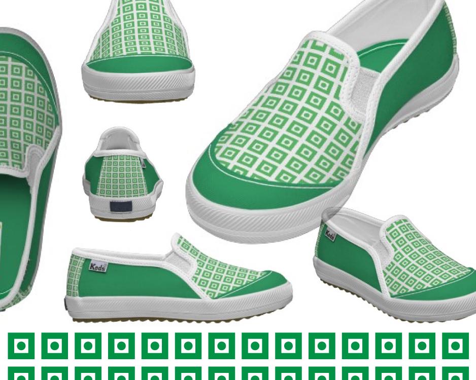 Mid-Mod Green Keds by Dingbat Press