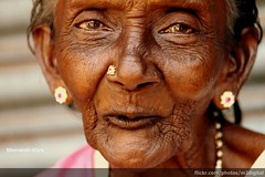 Old, but Still Going Strong (thefotobaba) Tags: street people india face canon indian streetphotography 500 oldwomen 500d canon500d lemonlady portraitold