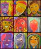 expressive portraits. (artsy_T) Tags: abstract color art colors portraits faces paintings 5thgrade line marker expressive sharpie emotions elementary picnik feelings temperacakes basicproportions