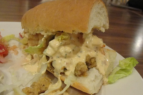 shrimp and oyster po' boy