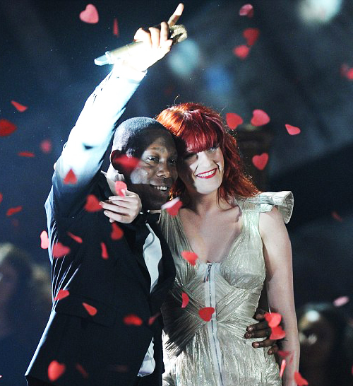 Dizzee Rascal at the Brits 2010