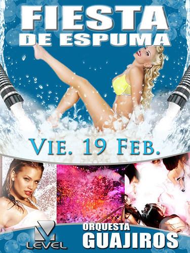 Fiesta de espuma - Discoteca Level