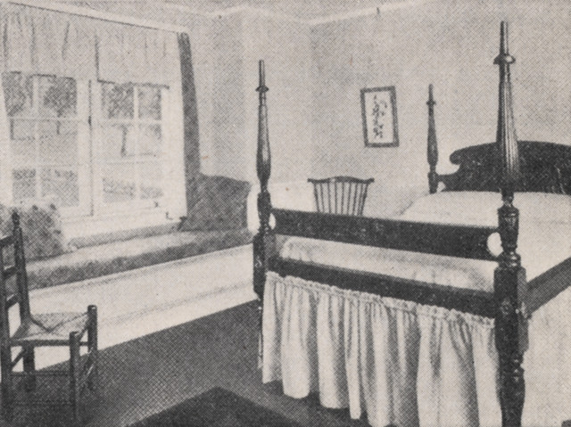 Typical Bedroom in 1918 by UA Archives  Upper Arlington History
