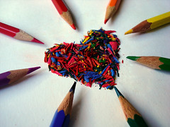 Colours Of Love (Ai in Technicolor) Tags: verde art love pencil colours arte heart blu giallo feeling viola rosso colori cuore amore tempera matite sentimenti