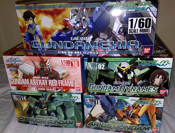 Unbuilt Gundam Kits