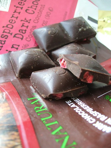 raspberry chocolates.