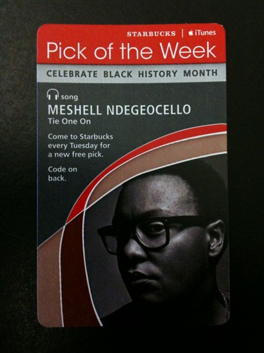Starbucks iTunes Pick of the Week - Meshell Ndegeocello - Tie One On #fb