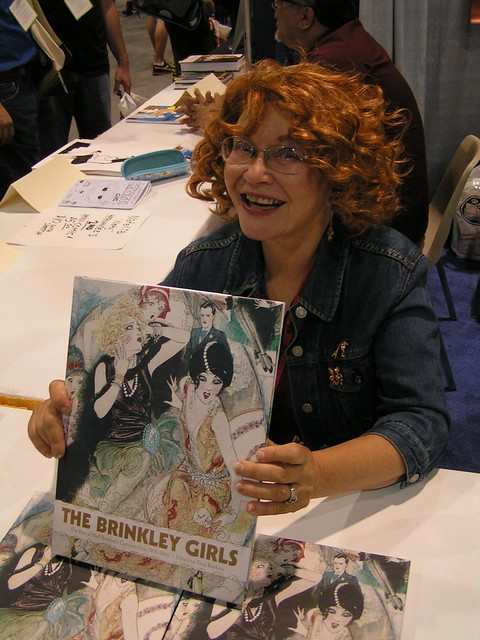 Trina Robbins with Fantagraphics at the San Diego Comic-Con 2009