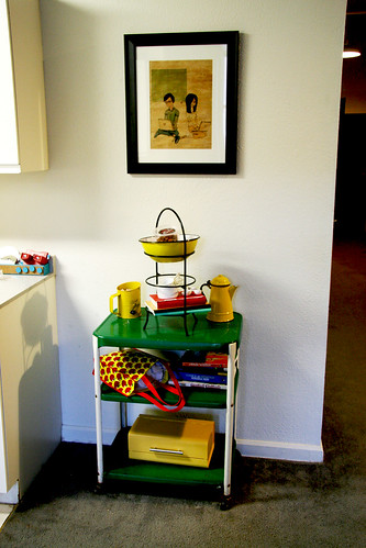 Kitchen Library Cart