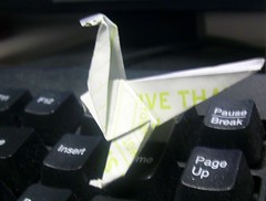 Attack of the origami dinosaur! (bamalibrarylady) Tags: art origami paperfolding
