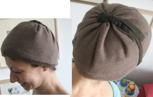 brown hat from baggy dress