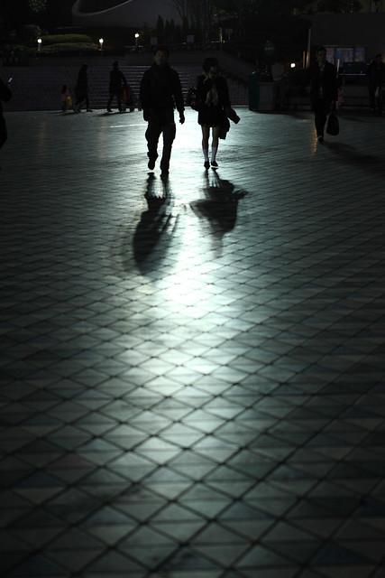 水銀灯の投影