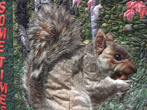 Some times you feel like a nut, a quilt by Barbara Barrick McKie