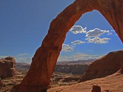 Corona Arch, Utah (terri-t) Tags: usa southwest utah arch pair corona moab potash kartpostal 15challengeswinner lpframe goldstarawardgoldmedalwinner scenicsnotjustlandscapes